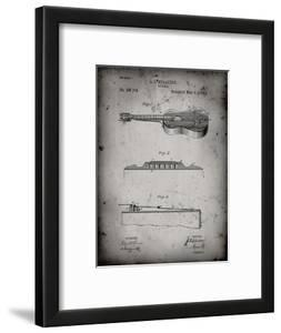 PP139- Faded Grey Stratton & Son Acoustic Guitar Patent Poster by Cole Borders