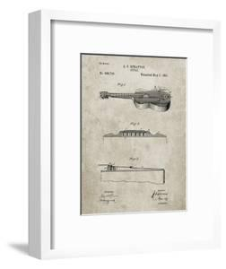 PP139- Sandstone Stratton & Son Acoustic Guitar Patent Poster by Cole Borders