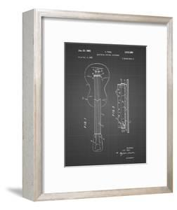 PP140- Black Grid Gibson Les Paul Guitar Patent Poster by Cole Borders
