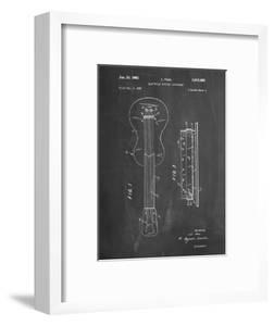 PP140- Chalkboard Gibson Les Paul Guitar Patent Poster by Cole Borders