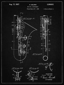 PP156- Vintage Black Selmer 1937 Saxophone Poster by Cole Borders