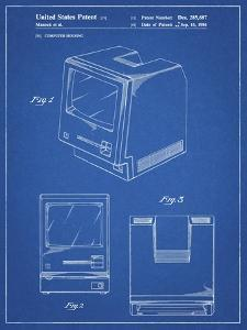 PP176- Blueprint First Macintosh Computer Poster by Cole Borders