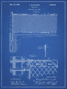 PP181- Blueprint Tennis Net Patent Poster by Cole Borders