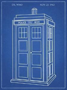PP189- Blueprint Doctor Who Tardis Poster by Cole Borders