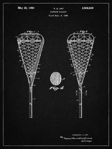 PP199- Vintage Black Lacrosse Stick 1948 Patent Poster by Cole Borders