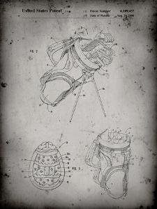 PP239-Faded Grey Golf Walking Bag Patent Poster by Cole Borders