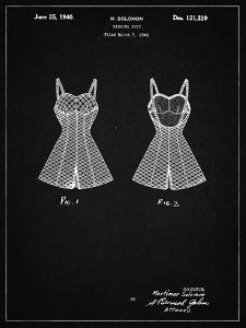 PP254-Vintage Black Bathing Suit Patent Poster by Cole Borders