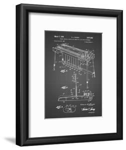 PP281-Black Grid Fender Pedal Steel Guitar Patent Poster by Cole Borders