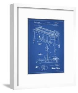 PP281-Blueprint Fender Pedal Steel Guitar Patent Poster by Cole Borders