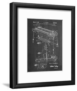 PP281-Chalkboard Fender Pedal Steel Guitar Patent Poster by Cole Borders