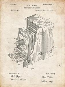 PP301-Vintage Parchment Lucidograph Camera Patent Poster by Cole Borders