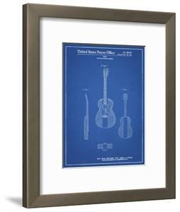 PP306-Blueprint Buck Owens American Guitar Patent Poster by Cole Borders