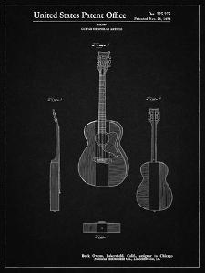 PP306-Vintage Black Buck Owens American Guitar Patent Poster by Cole Borders