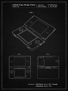 PP346-Vintage Black Nintendo DS Patent Poster by Cole Borders