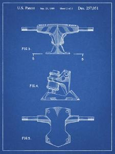PP385-Blueprint Skateboard Trucks Patent Poster by Cole Borders