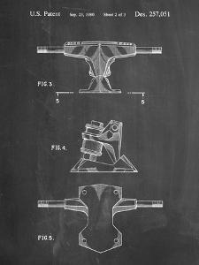 PP385-Chalkboard Skateboard Trucks Patent Poster by Cole Borders