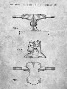 PP385-Slate Skateboard Trucks Patent Poster by Cole Borders