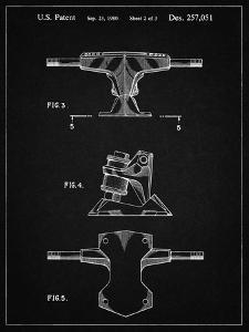 PP385-Vintage Black Skateboard Trucks Patent Poster by Cole Borders
