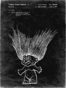 PP406-Black Grunge Troll Doll Patent Poster by Cole Borders