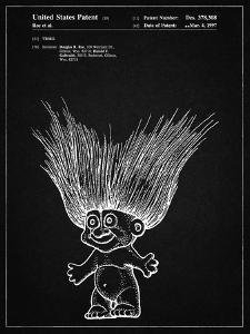 PP406-Vintage Black Troll Doll Patent Poster by Cole Borders