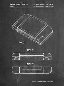 PP451-Chalkboard Nintendo 64 Game Cartridge Patent Poster by Cole Borders
