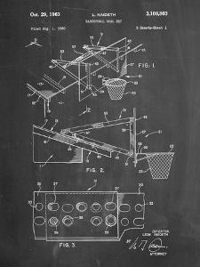 PP454-Chalkboard Basketball Adjustable Goal 1962 Patent Poster by Cole Borders