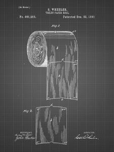 PP53-Black Grid Toilet Paper Patent by Cole Borders