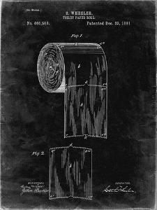 PP53-Black Grunge Toilet Paper Patent by Cole Borders