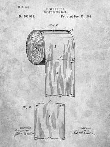 PP53-Slate Toilet Paper Patent by Cole Borders