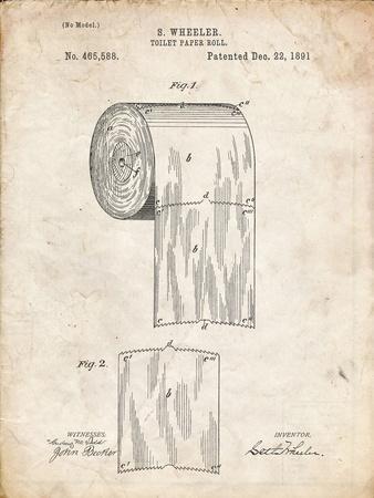PP53-Vintage Parchment Toilet Paper Patent