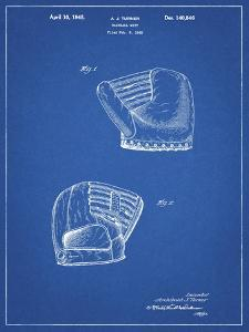 PP538-Blueprint A.J. Turner Baseball Mitt Patent Poster by Cole Borders