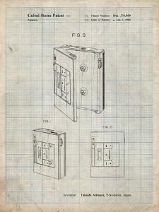 PP551-Antique Grid Parchment Toshiba Walkman Patent Poster by Cole Borders