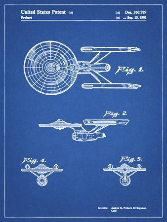 PP56-Blueprint Starship Enterprise Patent Poster