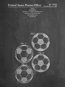 PP587-Chalkboard Soccer Ball 4 Image Patent Poster by Cole Borders
