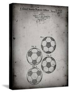 PP587-Faded Grey Soccer Ball 4 Image Patent Poster by Cole Borders
