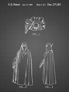 PP598-Black Grid Star Wars Imperial Guard Patent Poster by Cole Borders