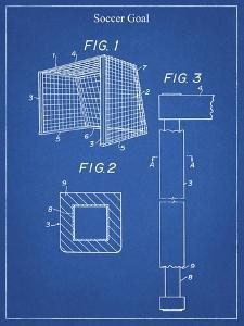 PP63-Blueprint Soccer Goal Patent Poster by Cole Borders
