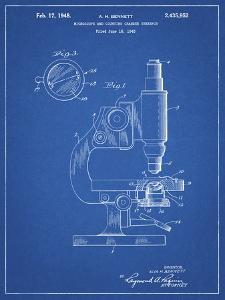 PP64-Blueprint Antique Microscope Patent Poster by Cole Borders