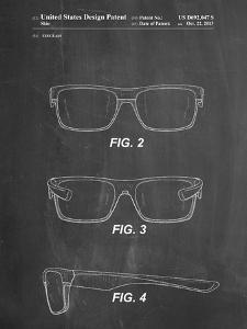 PP640-Chalkboard Two Face Prizm Oakley Sunglasses Patent Poster by Cole Borders