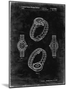 PP651-Black Grunge Luxury Watch Patent Poster by Cole Borders