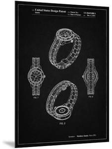 PP651-Vintage Black Luxury Watch Patent Poster by Cole Borders