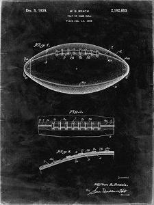 PP71-Black Grunge Football Game Ball Patent by Cole Borders
