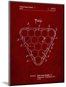PP737-Burgundy Billiard Ball Rack Patent Poster by Cole Borders