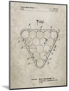 PP737-Sandstone Billiard Ball Rack Patent Poster by Cole Borders