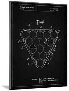 PP737-Vintage Black Billiard Ball Rack Patent Poster by Cole Borders