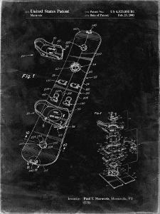 PP760-Black Grunge Burton Touring Snowboard Patent Poster by Cole Borders