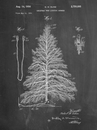 PP765-Chalkboard Christmas Tree Poster by Cole Borders