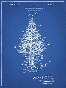 PP766-Blueprint Christmas Tree Poster by Cole Borders