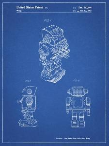 PP790-Blueprint Dynamic Fighter Toy Robot 1982 Patent Poster by Cole Borders