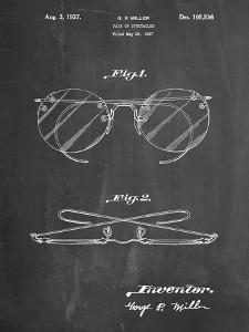 PP803-Chalkboard Eyeglasses Spectacles Patent Art by Cole Borders